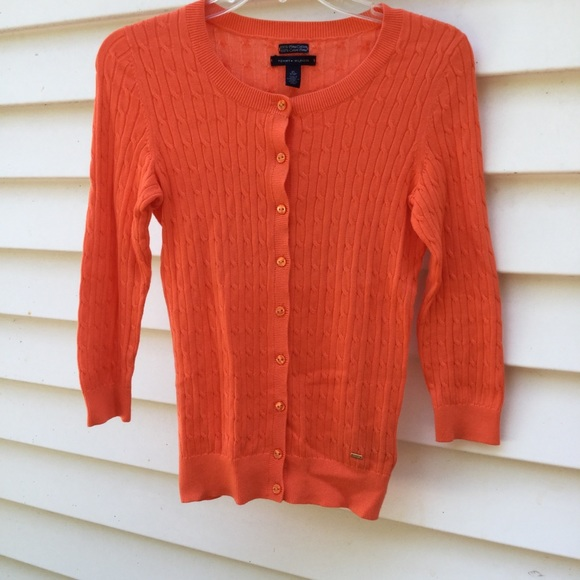 Tommy Hilfiger Sweaters - Tommy Hilfiger Cable Knit Cardigan XS Button Down